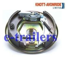 KNOTT LEFT SIDE 203x40 COMPLETE BACKPLATE ASSEMBLY BRAKE SHOES -IFOR WILLIAMS